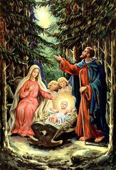 #Nativity #vintage #angels
