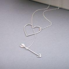 Herz und Pfeil-Halskette von bbel auf Etsy