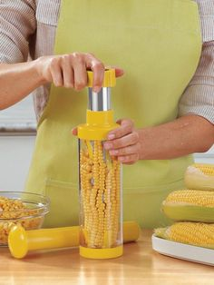 Deluxe Corn Stripper - Corn on the Cob Stripperand Corn Kernel Remover | Solutions