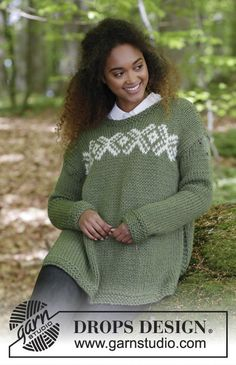 Jumper with multi-colour Norwegian pattern and vent in the side. Size: S - XXXL Piece is knitted in DROPS Andes.