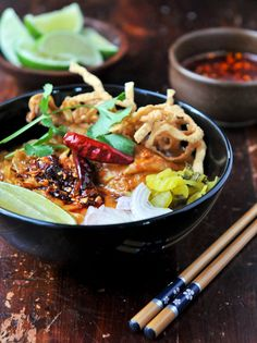 [Khao Soi - Northern Thai Curry Noodles] + Click For Recipe!  #easy #recipes #asian #thailand