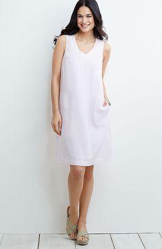 linen V-neck tank dress from J.Jill