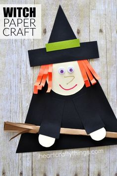 Witch Paper Craft for Halloween | I Heart Crafty Things