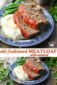 This old-fashioned Meatloaf Recipe with Oatmeal is a simple, easy dinner that comes together with just 10 minutes of prep! A family favorite! Meatloaf Recipe Using Oatmeal, Meatloaf With Oatmeal, Classic Meatloaf Recipe, Good Meatloaf Recipe, Meat Loaf Recipe Easy, Meatloaf Recipes, Meat Recipes, Cooking Recipes, Recipes Dinner