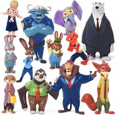 Zootopia Zootopia Ação Toy Boneca Figura 4 8 cm PVC Brinquedos Figura Policial Judy Fox Nick Coelho Dos Desenhos Animados Brinquedos, 12 pçs/lote em Figuras de ação & Toy de Brinquedos Hobbies & no AliExpress.com | Alibaba Group