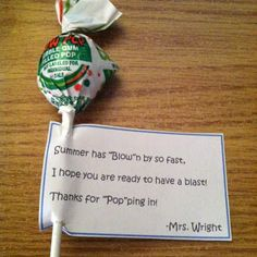 Might do this for students that visit the guidance office during Meet the Teacher Night/open house
