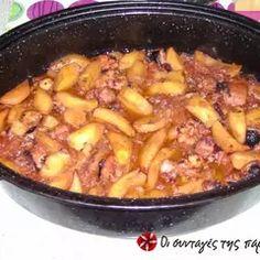 Χταπόδι στη γάστρα με πατάτες συνταγή από τον/την 1947 - Cookpad Chili, Food And Drink, Soup, Meat, Chicken, Recipes, Recipe, Chile