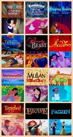 Disney Princesses' Movies