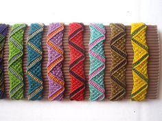 Varios Color Macrame Surf pulsera hecha a mano