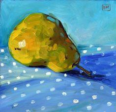 Pear Down, painting by artist Debbie Miller