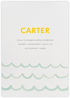 Make Waves - Paperless Post Fourth Birthday, Birthday Ideas, Paperless Post, Under The Sea Party, Backyard Bbq, Birthday Invitations, Stationery, Children, How To Make