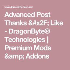Advanced Post Thanks / Like - DragonByte® Technologies   Premium Mods & Addons