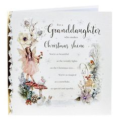 Exquisite Collection Christmas Card - Granddaughter, Fairy | Card Factory