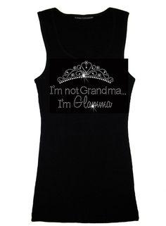 Grandma Rhinestone Tank Top Tank Top in Black with Clear Crystals - Bridal Tank Top on Etsy, $29.95
