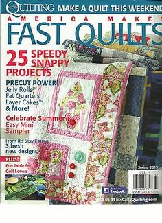 #Storage This auction is for the SPRING, 2013 ISSUE OF #AMERICA #MAKES FAST QUILTS Magazine. The magazine is fresh, We'll pick the best available copy for you!! A...