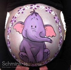 Bellypainting by Wendy Beekhuizen. www.schmink-ie.nl  Lollifant
