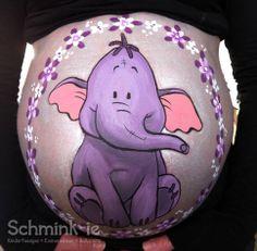 Bellypainting by Wendy Beekhuizen. www.schmink-ie.nl  Lollifant