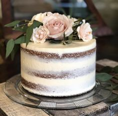 Wedding Cake Rustic, Rustic Cake, Cool Wedding Cakes, Wedding Cake Toppers, Pretty Cakes, Beautiful Cakes, Nake Cake, Gateau Baby Shower, Pink Birthday Cakes