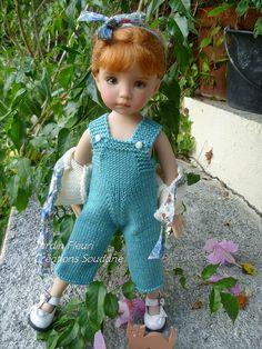 "Handknitted outfit ""Jardin en fleurs"" Créations Soudane"