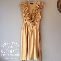 {Max & Cleo} by BCBG Dress Darling Max&Cleo Dress! This color yellow/gold is so pretty! This dress is an 8, but will fit a 6 also. Worn a handful of times. Total length of the dress is 38 inches. Smoke free home. Free gift with purchase. Max & Cleo Dresses Midi