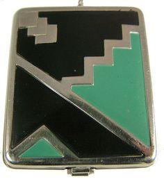 I LOVE this one! Art Deco geometric compact