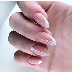 Valentine's Day Nail Designs, Cute Nail Art Designs, Elegant Nails, Stylish Nails, French Nails, French Manicures, Gel Nails, Acrylic Nails, Airbrush Nails