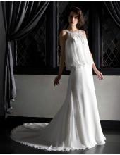 Elegantes Brautkleid aus Tüll im Kolumnestil