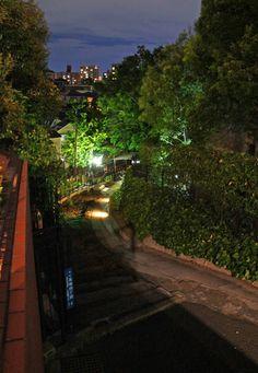 夜散歩のススメ「高輪のS字型抜け道階段」東京都港区