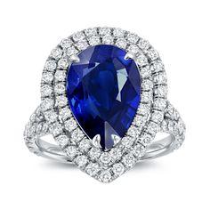 <li>Pear-Shape Gemstone Ring</li> <li>18 karat Gold</li> <li><a><a href='http://www.overstock.com/downloads/pdf/2010_RingSizing.pdf'><span class='links'>Click here for ring sizing guide</span></a></li>