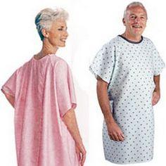 Salk Company - 500BP - Adult Patient Gown, Blue Plaid