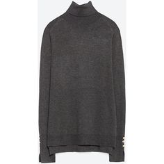 Zara Polo Neck Sweater ($30) ❤ liked on Polyvore featuring tops, sweaters, dark grey, turtleneck tops, polo neck sweater, zara top, zara sweaters and turtle neck tops