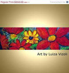 Black Friday Sale 40 off Oil Painting Flowers by LUIZAVIZOLI, $150.00