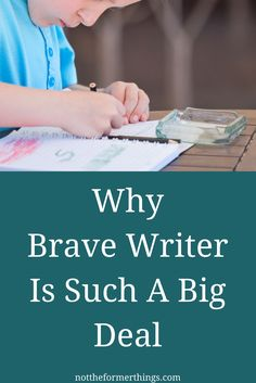 """I read something about Brave Writer almost every day. Blog posts, Instagram, Email marketing, and Facebook have been screaming at me about this program for over a year now. My closest online, homeschooling friends have been raving about the """"lifestyle"""" and """"poetry tea time"""" in a way that rivals how plenty of moms sounded when… Continue reading Why Brave Writer Is Such A Big Deal"""