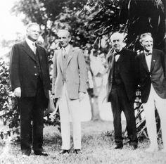 President Herbert Hoover, Henry Ford, Thomas Edison, and Harvey Firestone at Thomas Edison's 82nd birthday party in 1929. via reddit