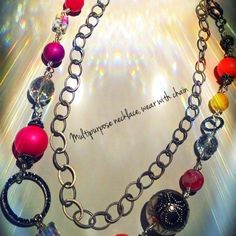 multipurpose chain necklace shown short with chain