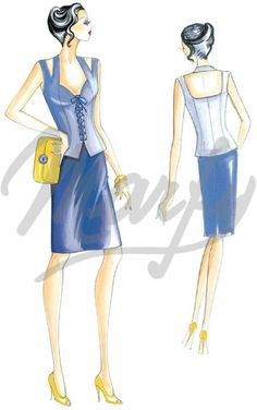 Model 2432   Sewing Pattern Tops / Vests / Corsets