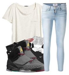 """""""*"""" by princess-kia54321 ❤ liked on Polyvore featuring H&M, NARS Cosmetics and Frame Denim"""