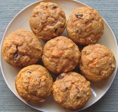 Carrot Pumpkin Raisin Muffins