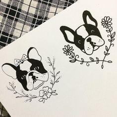 "50 Likes, 1 Comments - Giu Catalano Tattoo Artist (@giucatalano) on Instagram: ""Bulldog Francês! Queen Of Ink Tattoo Studio  Atendimento com hora marcada  Jundiaí-SP!…"""