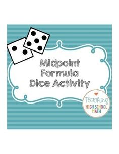 Worksheets Activity Worksheet Distance And Midpoint Exploration Answers activities distance and ems on pinterest midpoint activity using dice poster homework