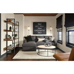 "Room & Board - Metro 88"" Sofa with Reversible Chaise"