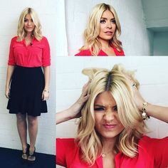 Defiantly feeling Monday-ish on what is apparently blue Monday... Therefor today on @itvthismorning I am wearing red!!!! Thank you @patsyoneillmakeup @davidobrien75 xxx