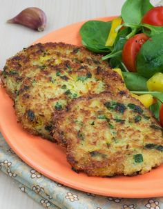 Quinoa Scallions Fritters -These crispy quinoa fritters pack a lot of flavor, thanks to lots of scallion and cilantro. If you have quinoa cooked ahead of time, this comes together in a snap.