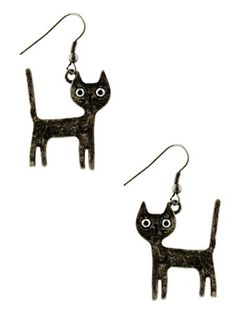 Proving you do not need a cute little smile to look adorable, these cat earrings from Fad Treasures are sure to enchant. With their wide eyes and tails on end, these kittens will make the ultimate addition to any alternative outfit.