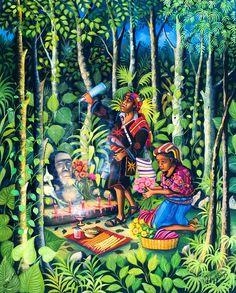 Mario Gonzalez Chavajay Guatemala artist Lake Atitlan
