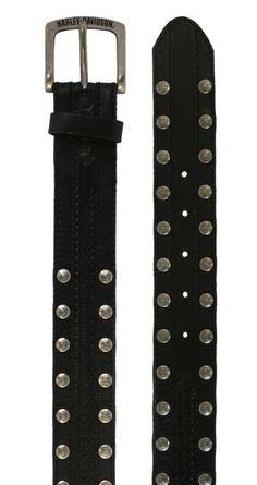 Harley-Davidson® Mens Slick Braid Panel Inlay With Studs Belt. M10018