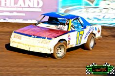 Adam Rassier from Grand Forks ND displaying his awesome racing skills in his #17R WISSOTA Dirt Street Stock race car at The Legendary Bullring River Cities Speedway in Grand Forks ND ~ Photos by Rick Rea www.RickRea.com