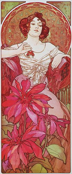 Ruby - Alphonse Mucha, 1900
