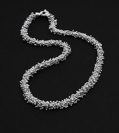 Boa necklace by Denys Michaud Dufour, Fine Jewelry, Jewellery, New Pins, Creations, Beaded Necklace, Pendants, Silver, Inspiration