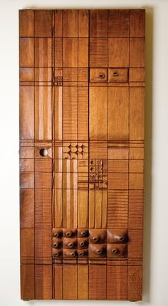 Leroy Setziol - Wooden door panel